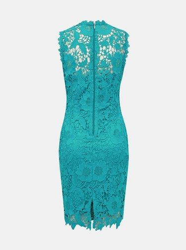 Tyrkysové krajkové pouzdrové šaty Dorothy Perkins