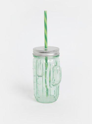 Svetlozelený pohár v tvare kaktusu SIFCON