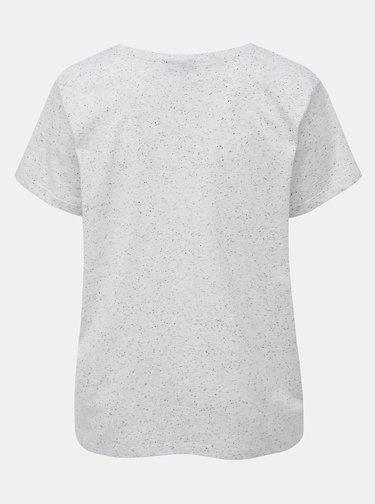 Světle šedé žíhané basic tričko Zizzi Chloé