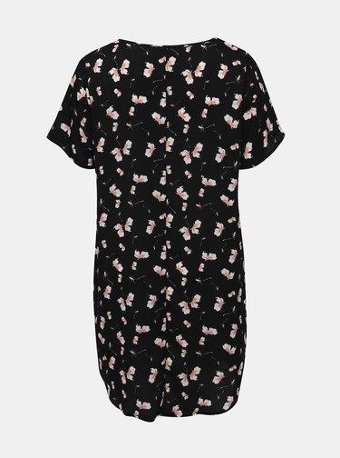 Černé květované šaty Zizzi Alba