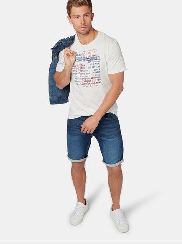 Bílé pánské tričko s potiskem Tom Tailor