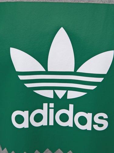 Šedé pánské žíhané tričko s potiskem adidas Originals