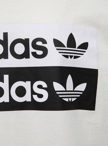 Bílé oversize tričko s potiskem adidas Originals