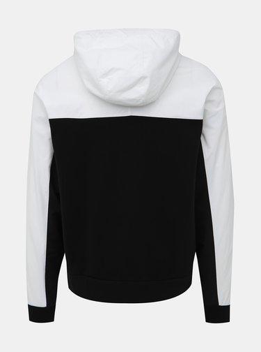 Bielo-čierna bunda s mikinovou spodnou časťou adidas Originals