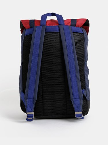 Modro-červený outdoorový batoh Jack & Jones Christian