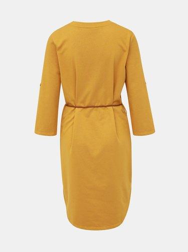 Hořčicové mikinové šaty Jacqueline de Yong Ivy