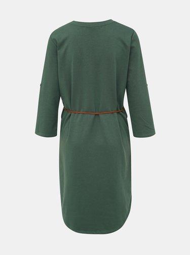 Kaki mikinové šaty Jacqueline de Yong Ivy