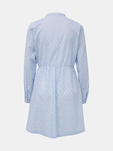 Svetlomodré vzorované košeľové šaty Jacqueline de Yong May