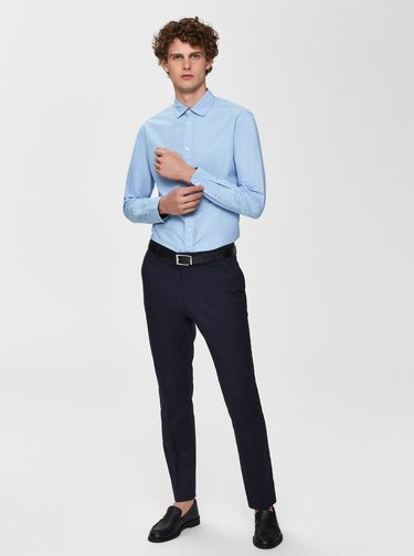 Modrá slim fit košile Selected Homme Mark