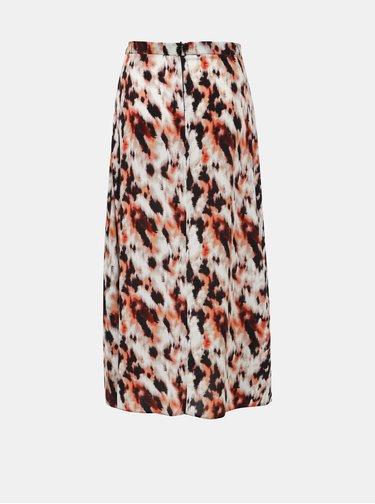Béžová vzorovaná maxi sukňa Dorothy Perkins