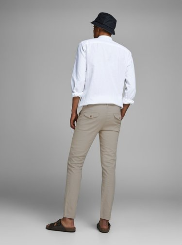 Pantaloni bej din in Jack & Jones Marco