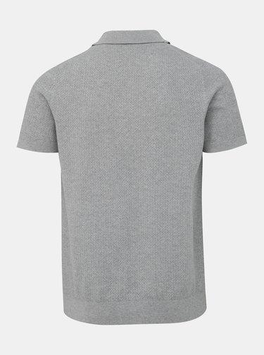 Svetlošedé polo tričko Selected Homme Virgo