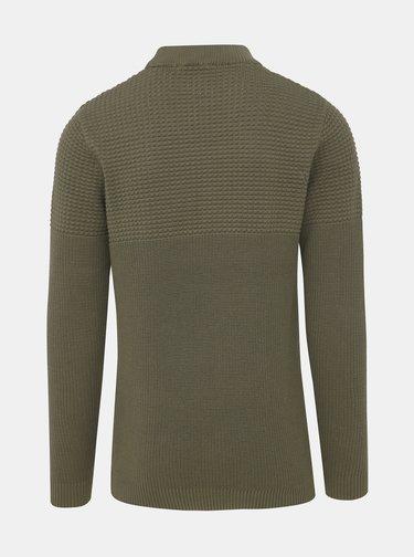 Kaki sveter Selected Homme Bubble