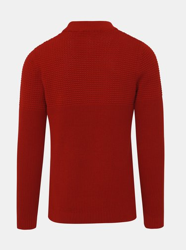 Červený sveter Selected Homme Bubble
