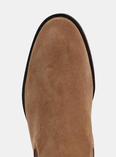 Hnedé semišové chelsea boty Selected Homme Louis