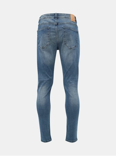Modré skinny fit džíny ONLY & SONS Warp