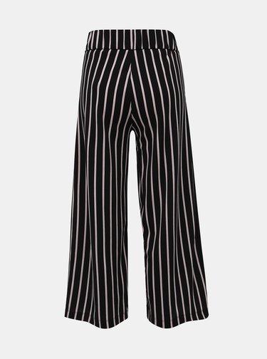 Černé pruhované kalhoty Jacqueline de Yong Geggo