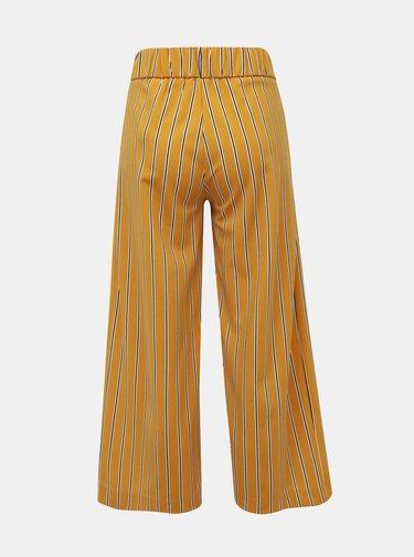 Horčicové pruhované nohavice Jacqueline de Yong Geggo