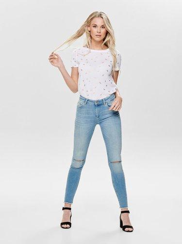 Biele tričko s potlačou ONLY Isabella