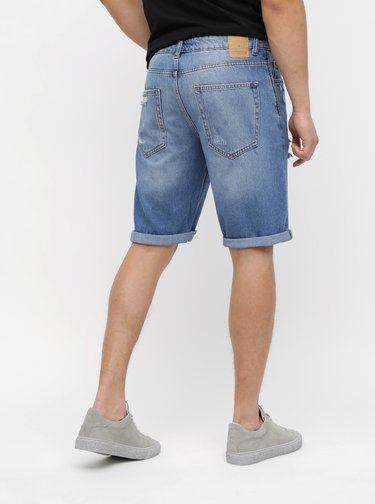 Pantaloni scurti albastri din denim ONLY & SONS Savi