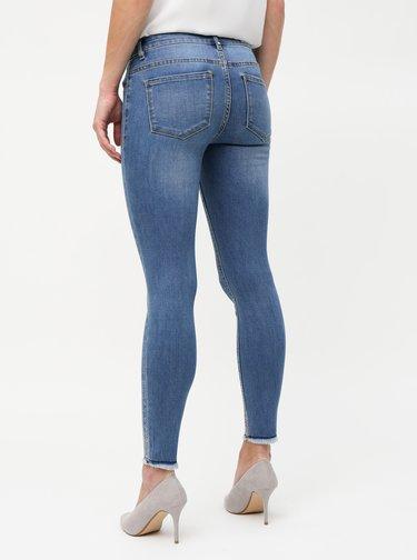 Modré skinny fit džíny s aplikací ONLY Carmen