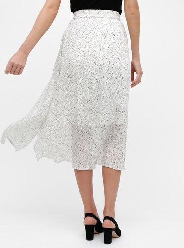 Bílá puntíkovaná midi sukně VERO MODA Grace