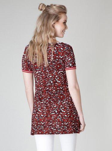 Červené vzorované dlouhé tričko Yest