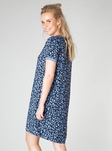 Modré vzorované šaty Yest