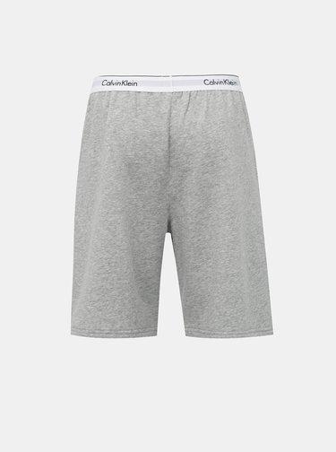 Šedé pánské žíhané šortky Calvin Klein Underwear