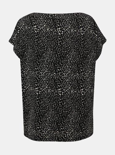 Čierne tričko s hadím vzorom Dorothy Perkins