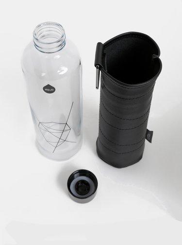 Sklenená fľaša v čiernom obale EQUA Graphite