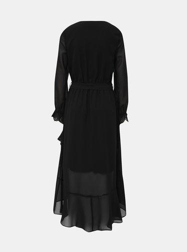 Černé maxi šaty s průstřihem v dekoltu Dorothy Perkins