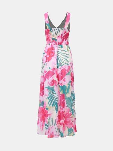 Růžové květované maxi šaty Dorothy Perkins
