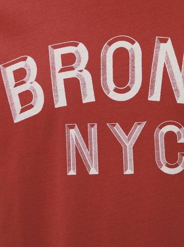 Červené tričko s potlačou Selected Homme Paul