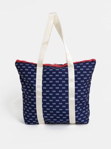 Tmavě modrá vzorovaná taška Kari Traa Maria