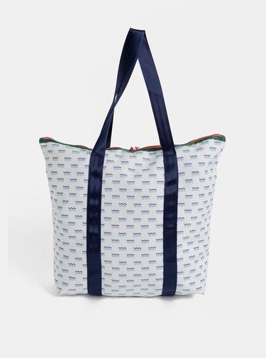 Bílá vzorovaná taška Kari Traa Maria