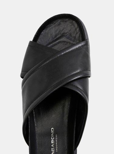 Čierne kožené šľapky Vagabond Erin