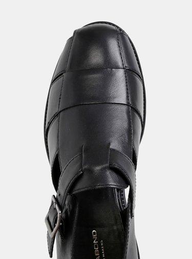 Čierne dámske kožené sandále Vagabond Kenova