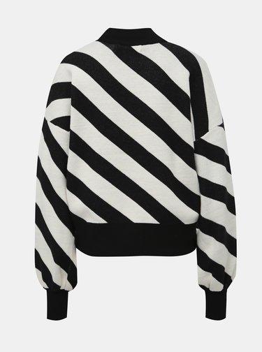 Bílo-černý pruhovaný svetr VERO MODA Labi
