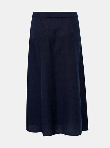 Tmavomodrá sukňa s prímesou ľanu Jacqueline de Yong Tulip