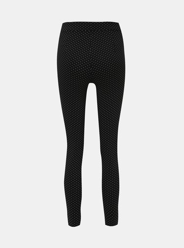 Čierne bodkované nohavice Dorothy Perkins