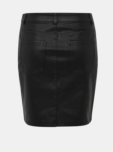 Černá koženková sukně Noisy May Belexi