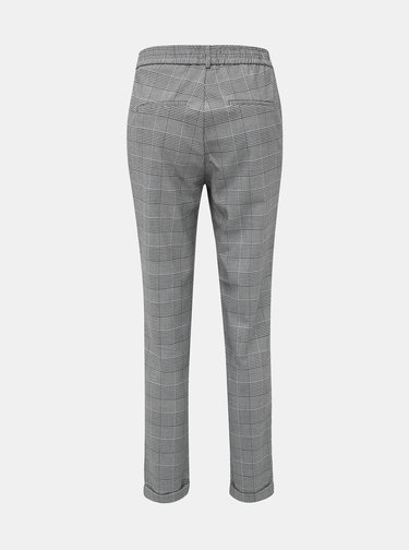 Šedé vzorované kalhoty VERO MODA Maya