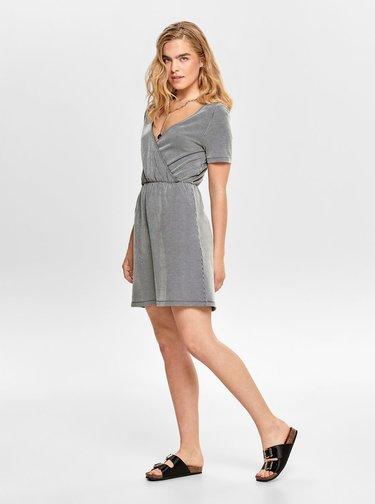 Šedé pruhované šaty ONLY Shirley