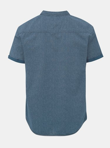 Modrá vzorovaná slim fit košile Blend