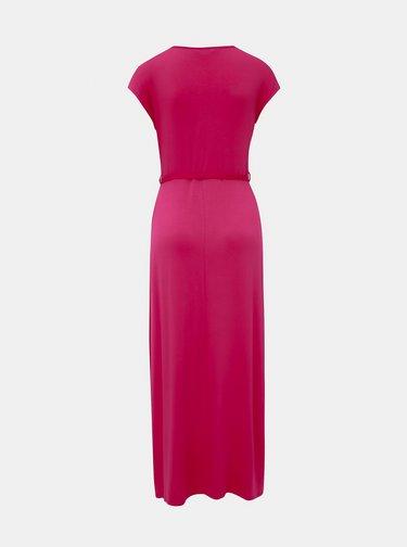 Rúžové maxišaty Dorothy Perkins