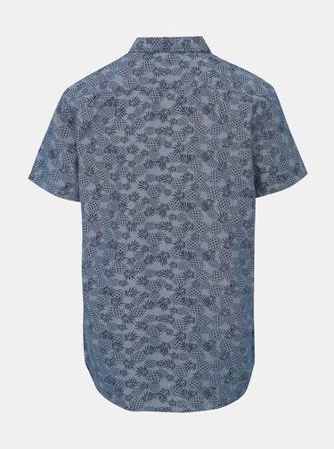 Modrá vzorovaná regular fit košile Blend