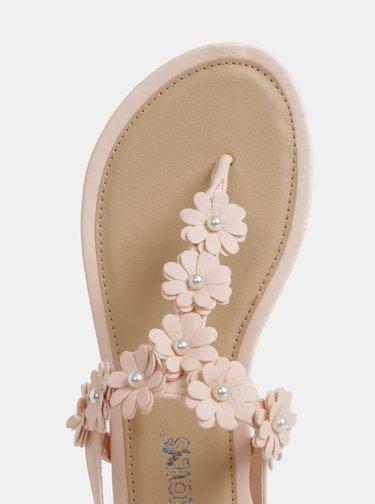 Růžové dámské sandály Haily´s Flora