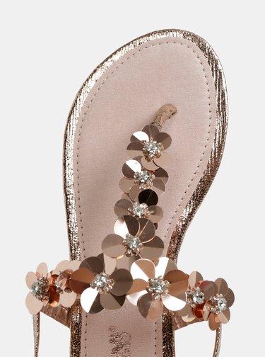Dámske šľapky v rúžovozlatej farbe Haily´s Jara