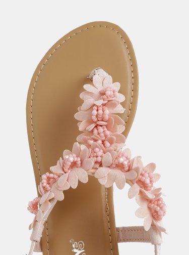 Rúžové dámske šľapky Haily´s Sophia